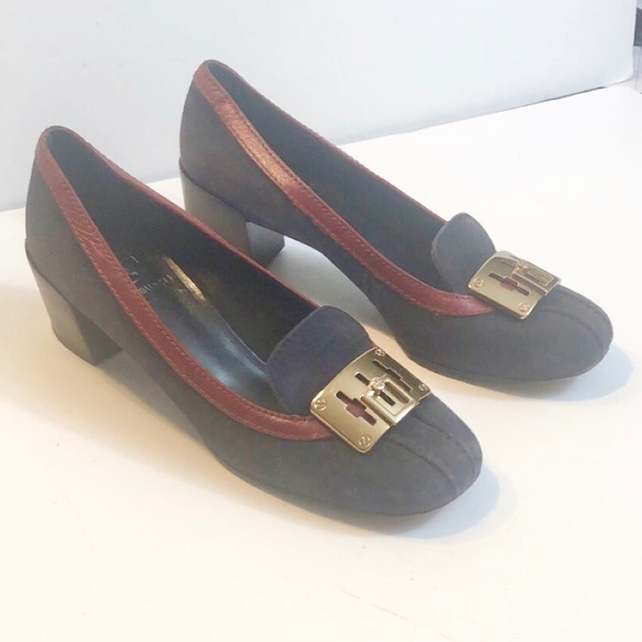 Tory Burch Shoes - Tory Burch Howie Navy Blue Suede Pumps Size 6M